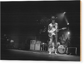 Jeff Beck On Guitar 5 Wood Print by The  Vault - Jennifer Rondinelli Reilly
