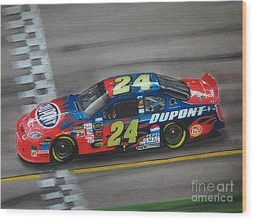 Jeff Gordon Dupont Chevrolet Wood Print by Paul Kuras