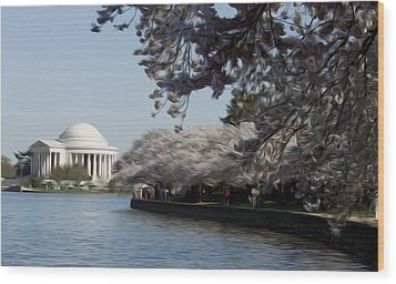 Jeffersonian Blossoms Wood Print by Kelvin Booker