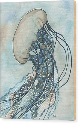 Jellyfish Two Wood Print by Tamara Phillips