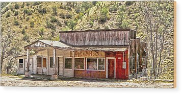 Jerome Arizona - General Store Wood Print by Gregory Dyer