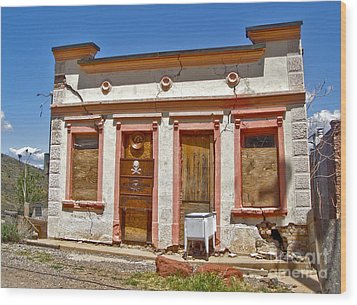 Jerome Arizona - Miner Shack Wood Print by Gregory Dyer