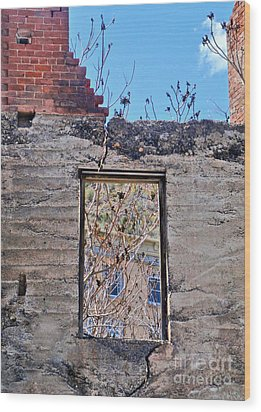 Jerome Arizona - Ruins - 02 Wood Print by Gregory Dyer