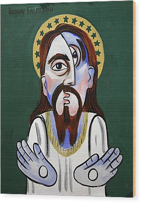 Jesus Christ Superstar Wood Print by Anthony Falbo