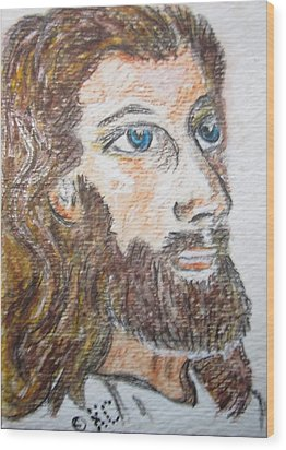 Jesus Our Saviour Wood Print by Kathy Marrs Chandler