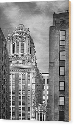 Jewelers' Building - 35 East Wacker Chicago Wood Print by Christine Till