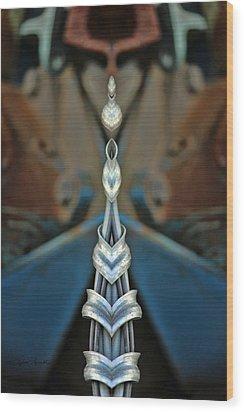 Jewels Wood Print by Sylvia Thornton