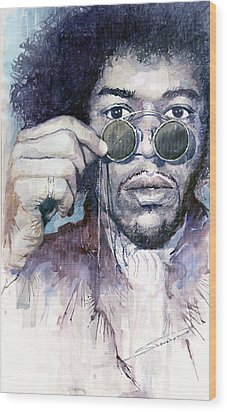 Jimi Hendrix 08 Wood Print by Yuriy  Shevchuk