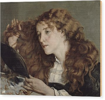 Jo The Beautiful Irish Girl Wood Print by Gustave Courbet