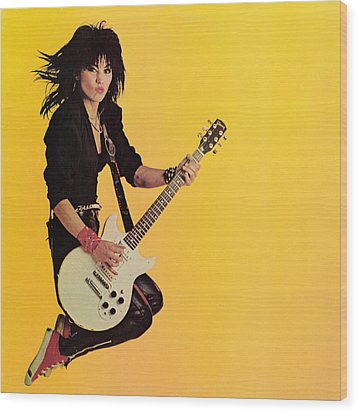 Joan Jett - Album 1983 Wood Print by Epic Rights