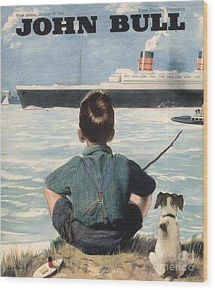 John Bull 1946 1940s Uk Nautical Wood Print by The Advertising Archives