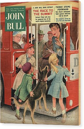 John Bull 1957 1950s Uk Dogs Buses Wood Print by The Advertising Archives