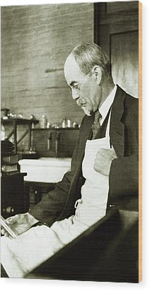 John Jacob Abel Wood Print by National Library Of Medicine