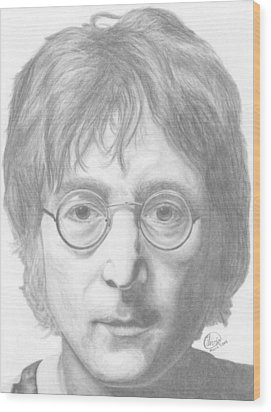 John Lennon Wood Print by Olivia Schiermeyer