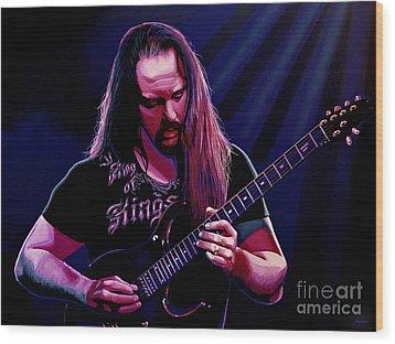 John Petrucci Painting Wood Print by Paul Meijering