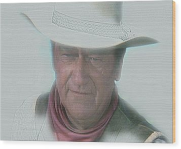 John Wayne Wood Print by Randy Follis