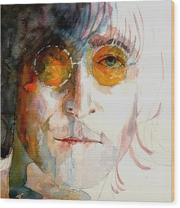 John Winston Lennon Wood Print by Paul Lovering