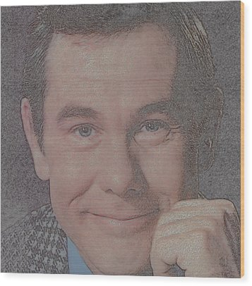 Johnny Carson Wood Print by Douglas Settle