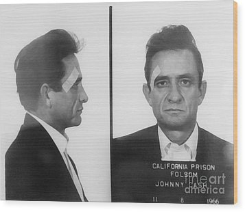 Johnny Cash Folsom Prison Wood Print by David Millenheft