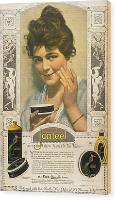 Jonteel 1900s Usa Face Cream Wood Print by The Advertising Archives