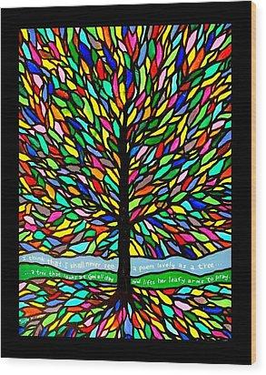 Joyce Kilmer's Tree Wood Print by Jim Harris