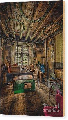 Junk Room Wood Print by Adrian Evans