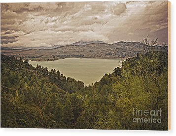 Just Before The Storm - Ardales Wood Print by Mary Machare