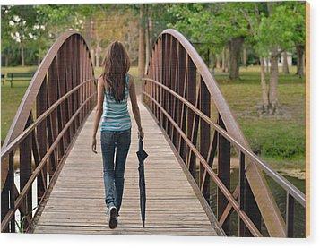 Just Walk Away Renee Wood Print by Laura Fasulo