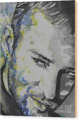 Justin Timberlake...02 Wood Print by Chrisann Ellis