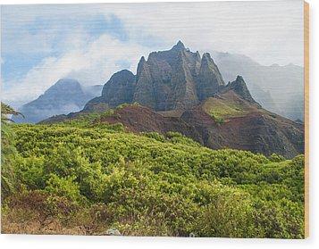 Kalalau Valley - Kauai Hawaii Wood Print by Brian Harig