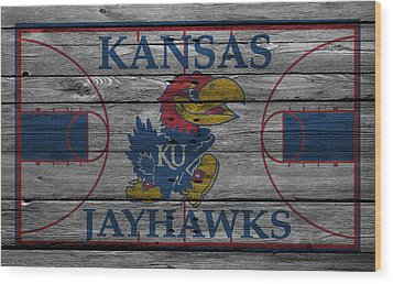 Kansas Jayhawks Wood Print by Joe Hamilton