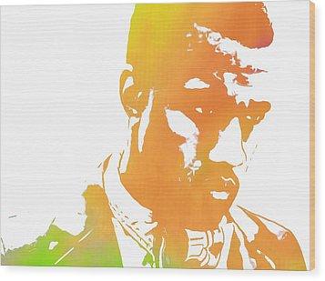Kanye West Pop Art Wood Print by Dan Sproul