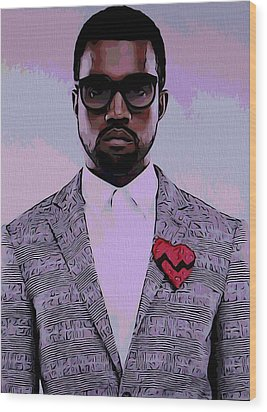 Kanye West Poster Wood Print by Dan Sproul
