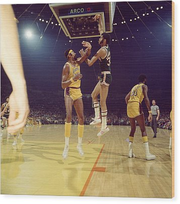 Kareem Abdul Jabbar  Wood Print by Retro Images Archive