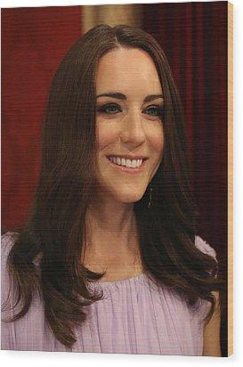 Kate Middleton Duchess Of Cambridge Wood Print by Lee Dos Santos