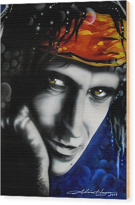 Keith Richards Wood Print by Alicia Hayes
