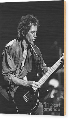Keith Richards Wood Print by Concert Photos