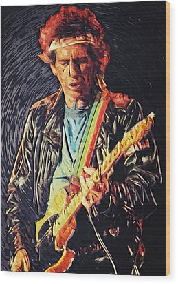 Keith Richards Wood Print by Taylan Soyturk