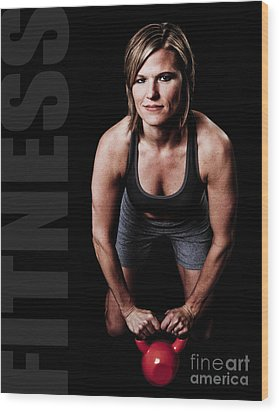 Kettlebell Time Wood Print by Jt PhotoDesign