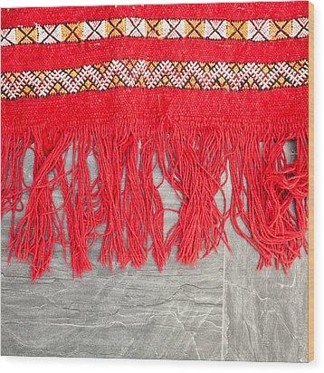 Kilim Rug Wood Print by Tom Gowanlock