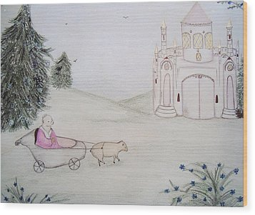 King And Castle Wood Print by Christine Corretti