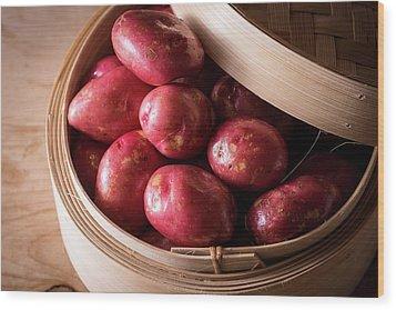 King Edward Potatoes Wood Print by Aberration Films Ltd