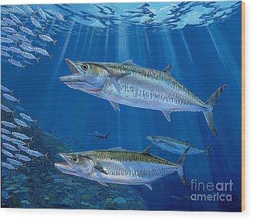 Kingfish Reef Wood Print by Carey Chen