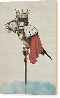 Kingfisher Wood Print by Eric Fan