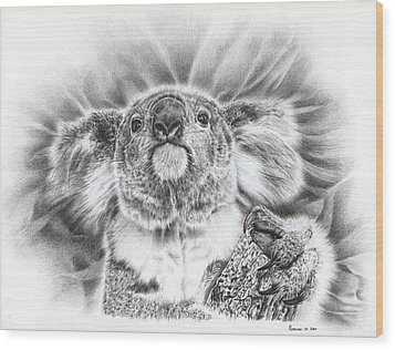 Koala Roto Princess Wood Print by Remrov