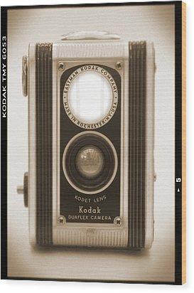 Kodak Duaflex Camera Wood Print by Mike McGlothlen