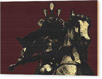 Kusunoki Masahige In Battle Wood Print by Jeff DOttavio