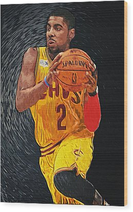 Kyrie Irving Wood Print by Taylan Soyturk