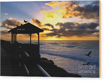 La Jolla At Sunset By Diana Sainz Wood Print by Diana Sainz