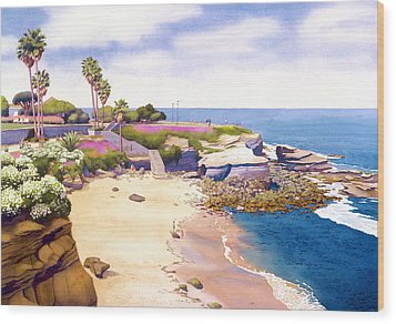 La Jolla Cove Wood Print by Mary Helmreich